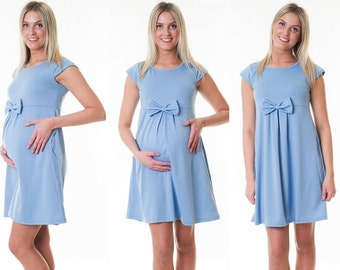 Dress maternity dress loop Summerdress maternity dress Blau