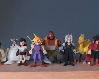 FF7 Final Fantasy 7 3D Printed Miniatures