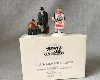 "Vintage Department 56 Heritage Village ""All Around the Town"", Christmas Village Figurine"