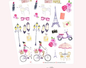 Decorative Planner Stickers | SPRING IN PARIS