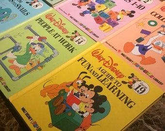1983 Walt Disney Fun-to-Learn Library Bantam books