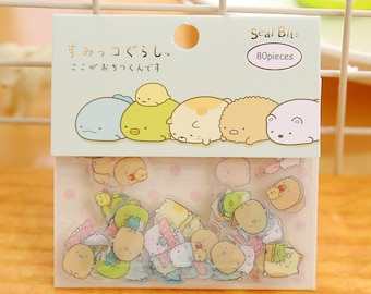 Sumikko Gurashi Stickers / Sumikko Gurashi Sticker Flakes / Kawaii Stickers / Cute Stickers / San-X Stationery / Sumikko Gurashi Sticker Set