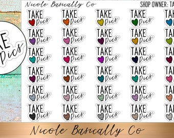 Shop Owner- Take Pics Planner Stickers