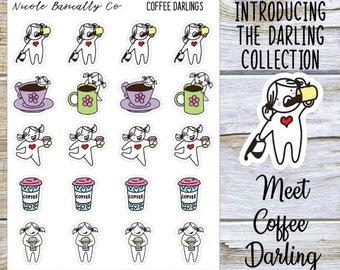 Coffee Lover Darlings Planner Stickers