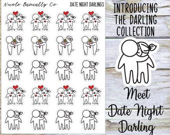 Date Night Couple Darlings Planner Stickers