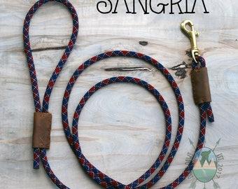 CUSTOM Sangria Leash || Climbing Rope Dog Leash || Handmade in the USA
