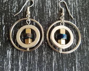 Circle Drops Earrings