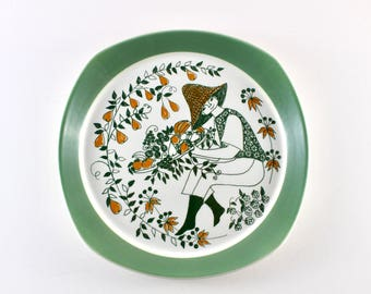 Stavangerflint - Figgjo flint - Turi design - ceramic plate from the serie Sicilia - Made in Norway.