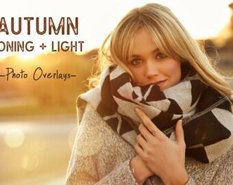 Autumn toning color, light photo overlays, Sunlight overlays, Bokeh, Autumn overlays, Light overlays, Toning overlays, Bokeh overlay