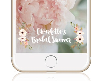 Bridal Shower Geofilter Floral Bridal Shower Snapchat Filter Custom Snapchat Geo Filter Wedding Snapchat Filter