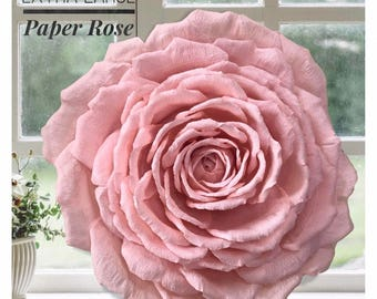 Extra Large Paper Flower, Deluxe Garden Rose,  Handmade Wall Flower, Wedding Decor, Baby Nursery Art, Luxury Paper Flower, Pick Color & Size