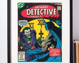 DC Comics Wall Art - Batman and The Joker Cover Print - Matted and Framed