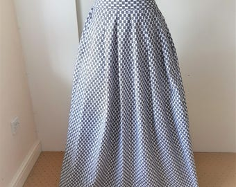 """African Maxi Skirt, Africa clothing - Printed Cotton - 3.5"""" High Waist Maxi Cotton maxi skirt Cotton Skirt Made to measure, custom skirt"""