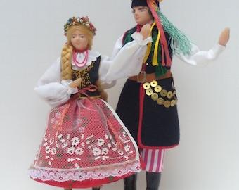 Polish Souvenir Doll, Polish Dancing Couple