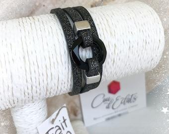 Bracelet Rondelle Swarovski® Noire