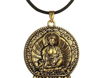 Buddha Pendant in Bronze via Repoussage