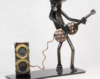 Electric guitar   Metal Art   Electric guitar figurine   Railroad spike art   Metal Art guitar  guitar
