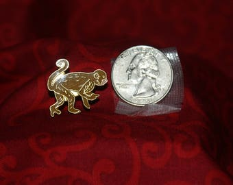 vintage monkey hat pin with pin back - 427
