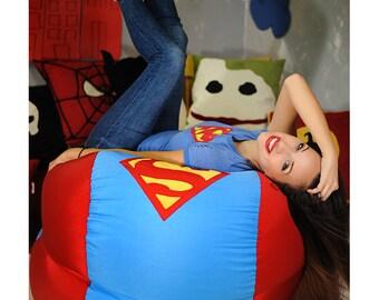 Superhero bean bag cover, Bean bag chair, Superhero Gift, Superhero decor, Comic Gift, Superhero room, Superhero Pouf, (NO beans filling)
