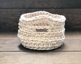 Medium Crochet Basket • storage basket • crochet bowl • storage bowl