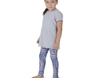 Kids Leggings, Cute Mandala Leggings for Girls, Children's Printed Yoga Pants