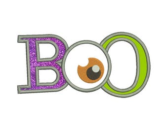 SALE 50% 10 Size Boo Applique Disigns Embroidery Designs,Halloween embroidery  Machine Embroidery Designs - 8 File Fomats PES