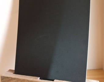 Rustic Chalkboard (large/light) with Stand/Holder, Rustic Fence Post Chalkboard