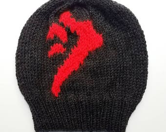 Mark of Cain Hat - Supernatural TV Show Knit Slouch Hat - Sam Winchester and Dean Winchester Hat - Birthday Gift for Supernatural Fan