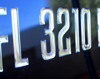 Boat & Jetski Registration Numbers - Domed/Raised Decal (16 pcs) SSeries