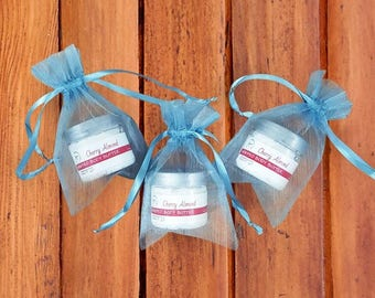 Body Butter Shower Favors - Whipped cherry almond Body Butter - Baby Shower Favors Boy - Shower Favor Gifts - Blue Shower Gift