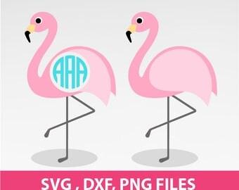 flamingo SVG, DXF, PNG Formats, cut file, clip art 0069