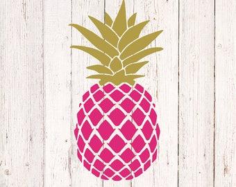 Pineapple Decal, Pineapple Stickers, Pineapple Car Decal, Pineapple Monogram Decal, Pineapple Decor, Pineapple Yeti Decal