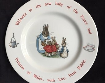Beatrix Potter by Wedgwood Prince William Baby Plate