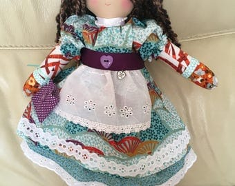 traditional ragdoll, unique rag doll, handmade rag doll, collectable doll, made in UK