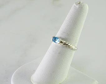 Blue Stone Stacking Ring Size 7