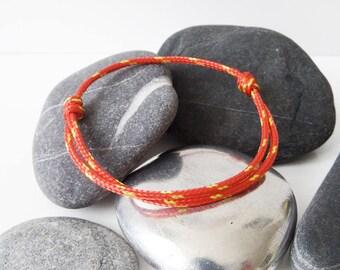 bracelet nautique corde drisse rouge bracelet porte bonheur. Black Bedroom Furniture Sets. Home Design Ideas