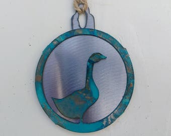 Patina Goose Ornament