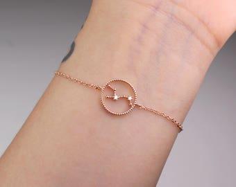 Virgo jewelry, horoscope bracelet, zodiac bracelet, constellation, bracelet, horoscope jewelry, virgo bracelet, rose gold zodiac, gift idea