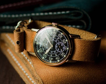 "Ultra rare original vintage Soviet watch Zim ""Aviator"" 1980 release. Mechanical watch, Vintage watch, Watch vintage."