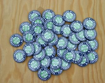 Seahawks and Coffee Pins -- Seahawks Buttons -- Seattle Seahawk Pin -- Washington Pin -- Hawks and Coffee -- Wholesale Seahawks -- Go Hawks