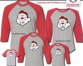 Holiday Shirts Santa Face...