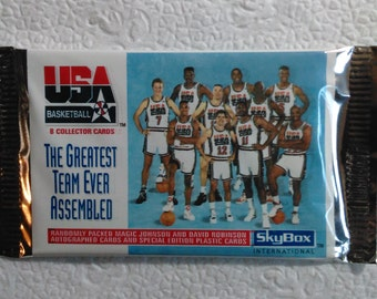 1992 Skybox USA Olympic Dream Team Factory Sealed Packs Lot of 4 Possible autographs of Magic Johnson Dave Robinson Mint Condition!