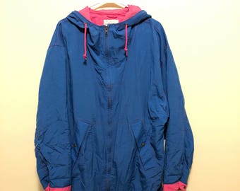 Blue and Pink Cabin Creek Large Jacket