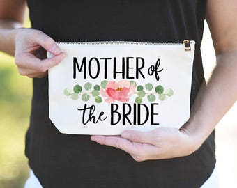 Mother of the Bride Makeup Bag, Mother of the Bride Cosmetic Bag, Mother of the Bride Bag, Makeup bag for Mother of the bride, Wedding Bag