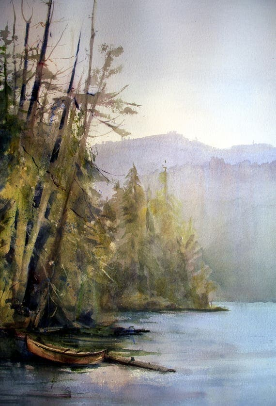 Lost Lake, Mt Hood,  signed print by Bonnie White