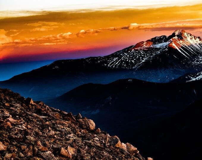 Estes Park Sunset Longs Peak