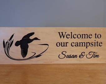 Personalized Camp Sign - Duck