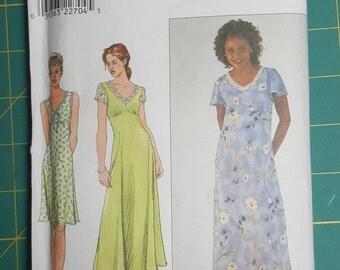 Simplicity 8613 - Misses Dress Sewing Pattern, Size H (6,8,10), Pullover Dress, Bias Cut Skirt, V-neck, Casual Dress, Women's Dress Pattern