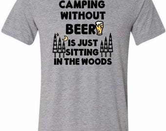 Funny Camping shirt, grey, camping shirt, tshirt