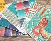 Planner Stickers - Fits Erin Condren Vertical - Rainbow Unicorn Planner Stickers - Ala Carte Weekly Sticker Kit - Unicorn Planner Stickers